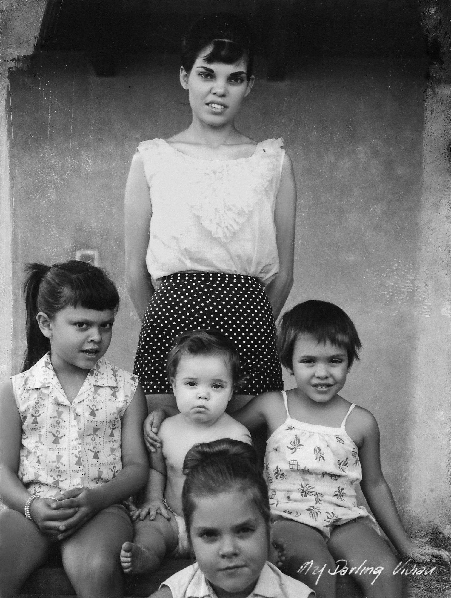 Vivian Liberto and her children
