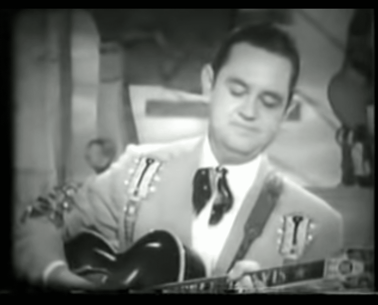Merle Travis. Photo from YouTube via Screengrab