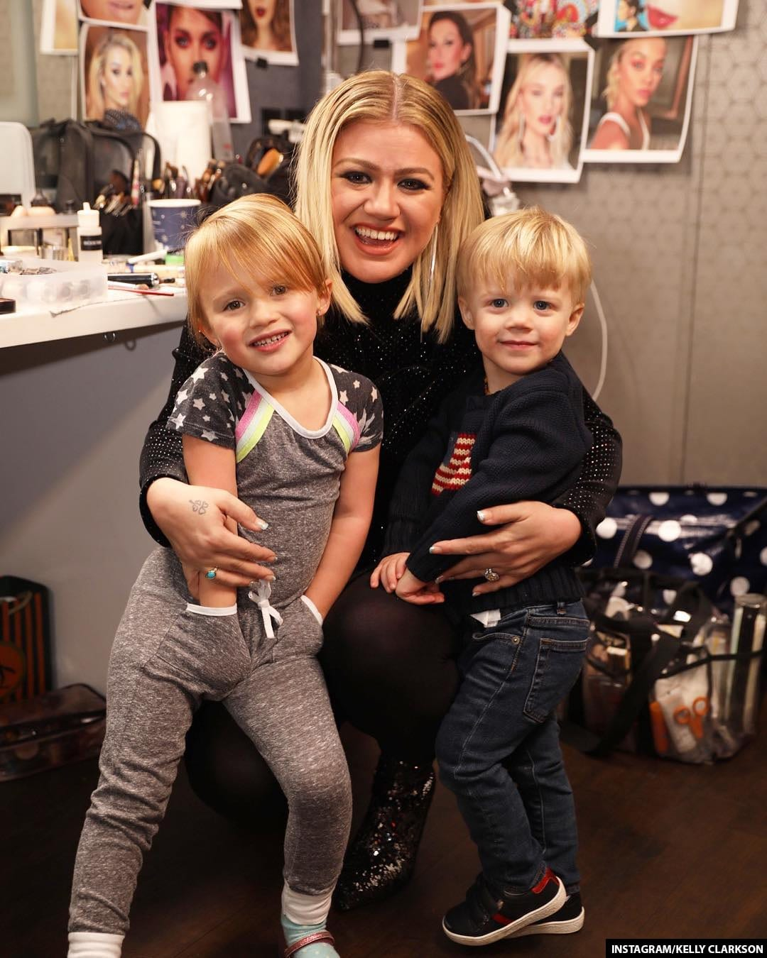 Kelly Clarkson Kids Remy and River Rose